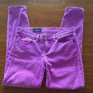 J. Crew Purple Toothpick Corduroy Ankle Pants